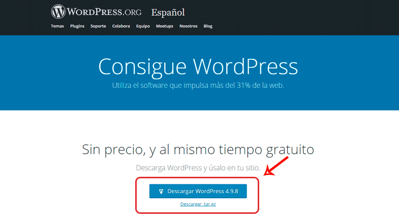Descargar WordPress Gratis