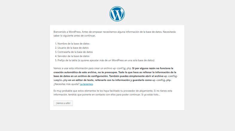 Conectar WordPress con Base de Datos en XAMPP