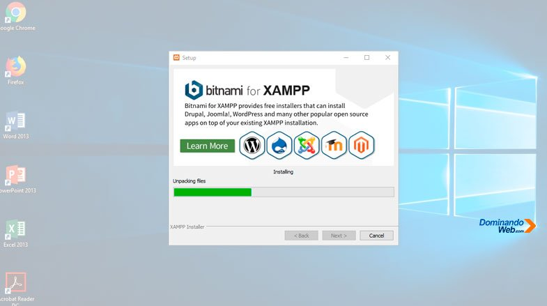Instalado XAMPP en Windows 10